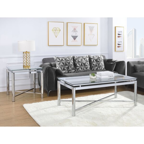 Andres 2 Piece Coffee Table Set by George Oliver George Oliver