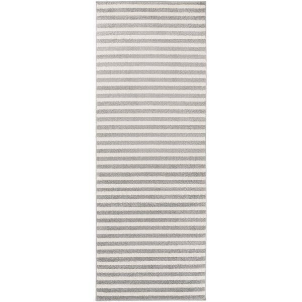 Greer Charcoal Striped Area Rug by Latitude Run