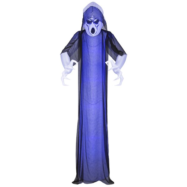 Lightshow Short Circuit Frightening Ghost Inflatable with Overlay Giant by The Holiday Aisle