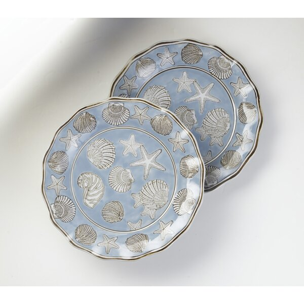 Hiltner Seashell Platter (Set of 2) by Highland Dunes