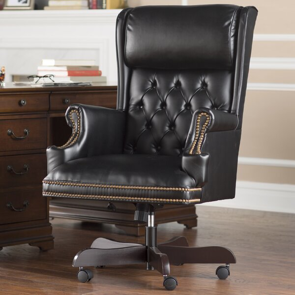 Brassie Leather Executive Chair by Darby Home Co