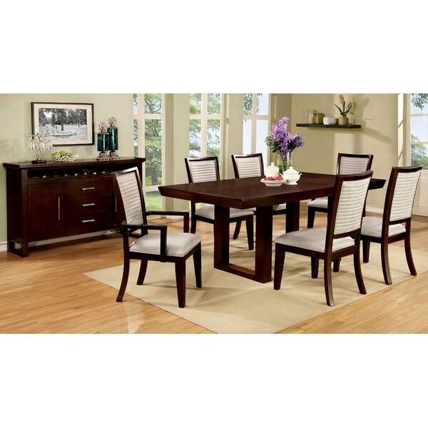 Bisset 7 Piece Extendable Dining Set by Hokku Designs