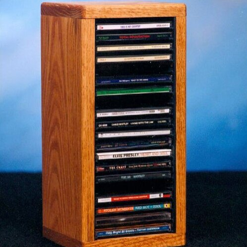 100 Series 20 CD Dowel Multimedia Tabletop Storage Rack by Wood Shed