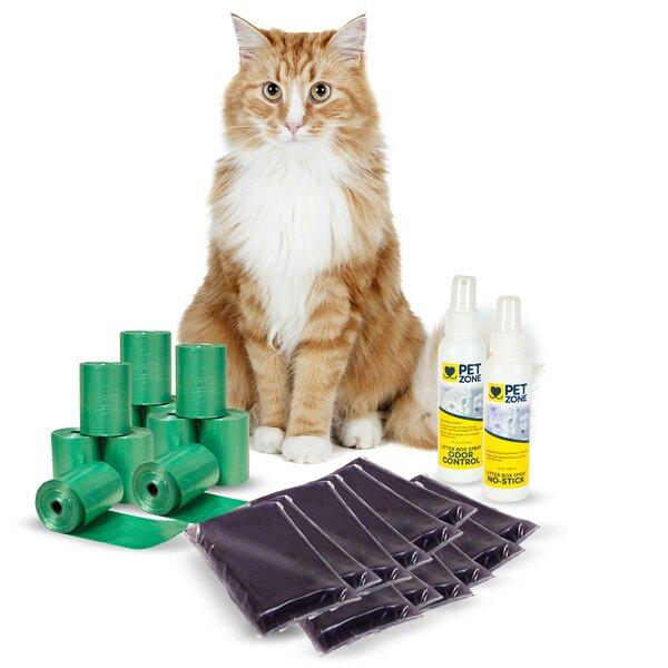 Pierre Smart Scoop Cat Litter Box Accessories Set by Tucker Murphy Pet
