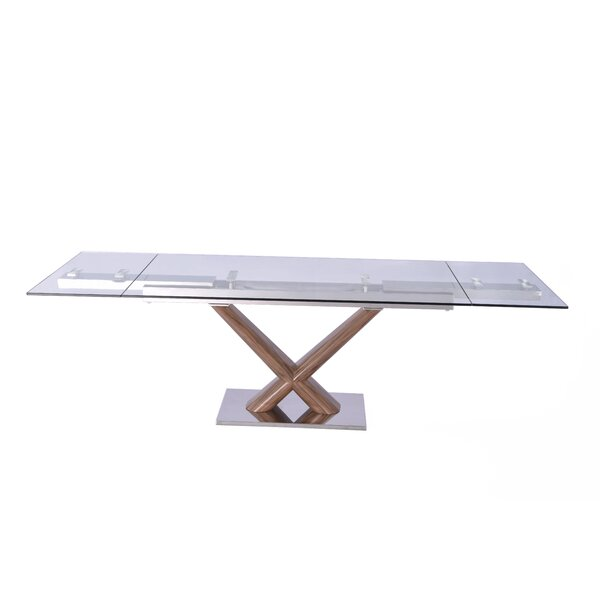 Beechwood Extendable Rectangular Dining Table by Orren Ellis