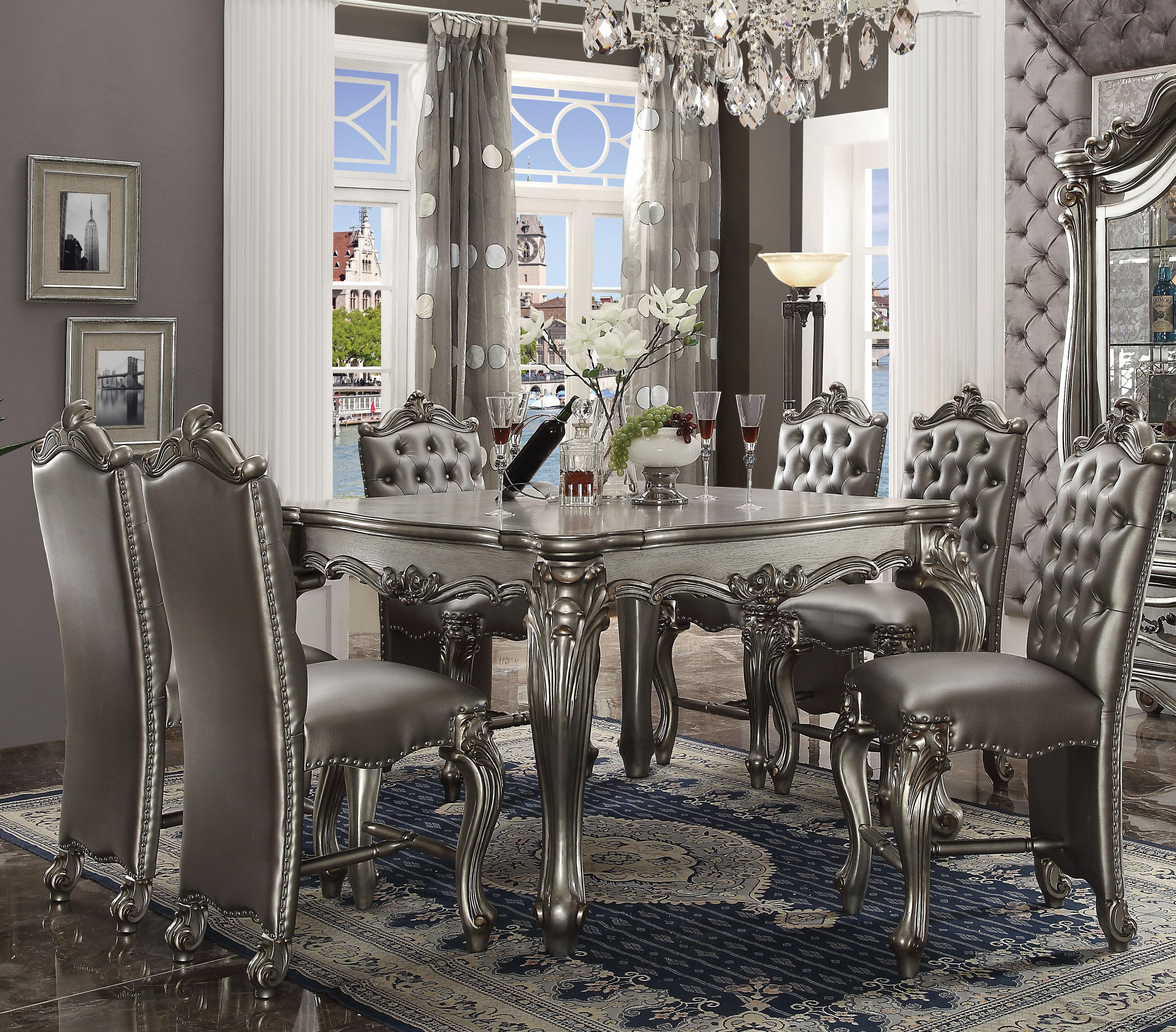 White Cane Outdoor Furniture, Astoria Grand Welton 7 Piece Counter Height Dining Set Reviews Wayfair