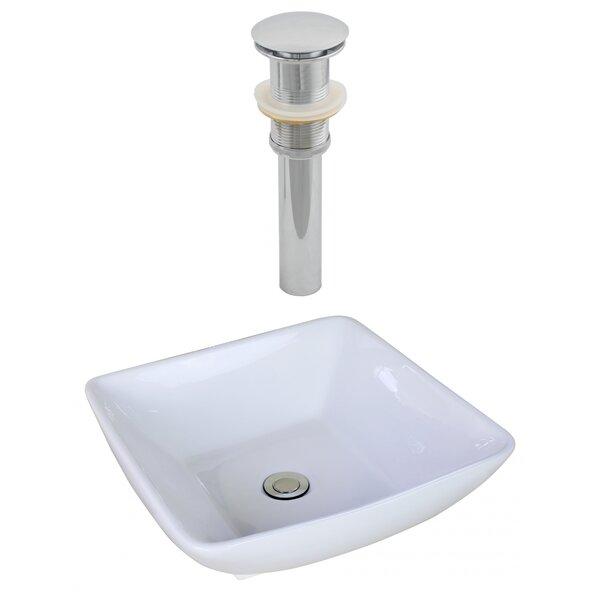 Ceramic Square Vessel Bathroom Sink by Royal Purple Bath Kitchen