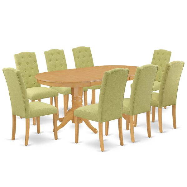 Bequia 9 Piece Extendable Solid Wood Dining Set by Winston Porter Winston Porter