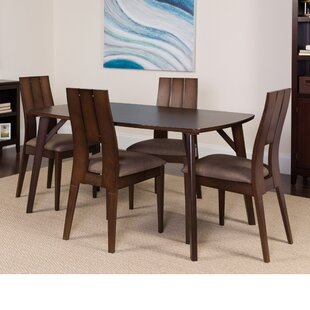 Huguenot 5 Piece Solid Wood Dining Set by Winston Porter