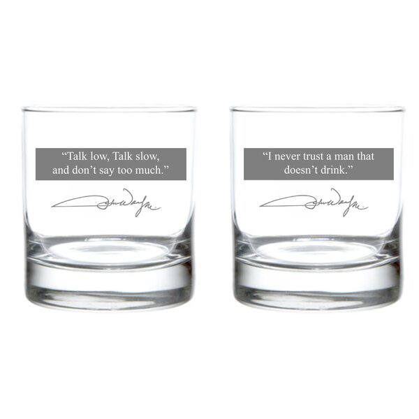John Wayne Quote Series 11 oz. Glass (Set of 2) by Rolf Glass
