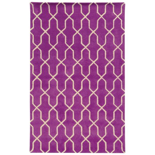 Optic Geometric Purple & Ivory Area Rug by Pantone Universe
