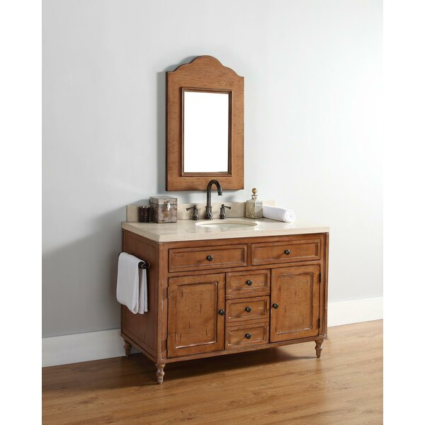 Berlin Traditional 48 Single Driftwood Patina Bathroom Vanity Set by Laurel Foundry Modern Farmhouse