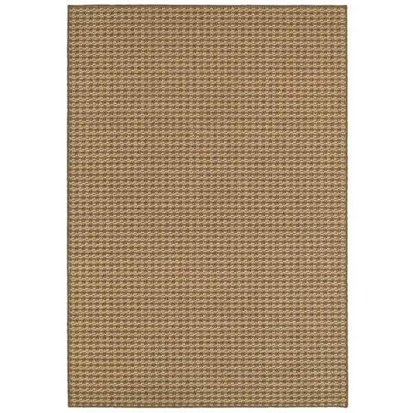 Carondelet Brown/Sand Indoor/Outdoor Area Rug by Charlton Home