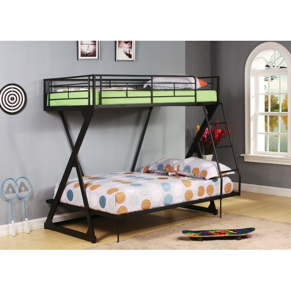 Deslauriers Metal Twin over Full Bunk Bed by Harriet Bee