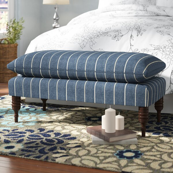 Jordao Upholstered Wood Bench by Birch Lane™ Heritage