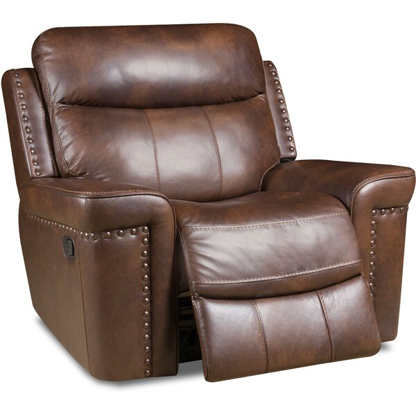 Derrek Leather Manual Rocker Recliner by Red Barrel Studio