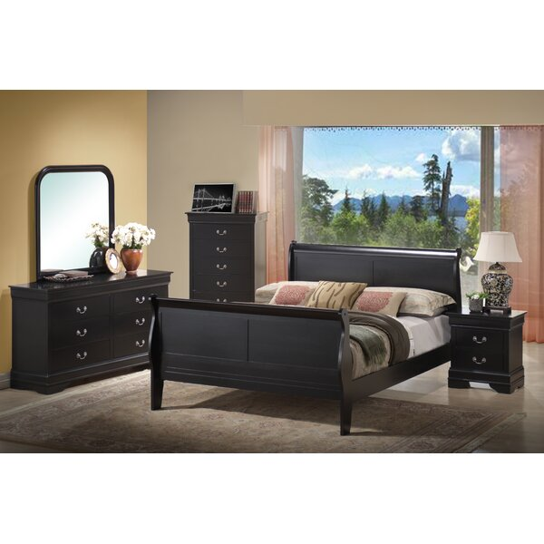 Priscilla Sleigh Bed by Alcott Hill