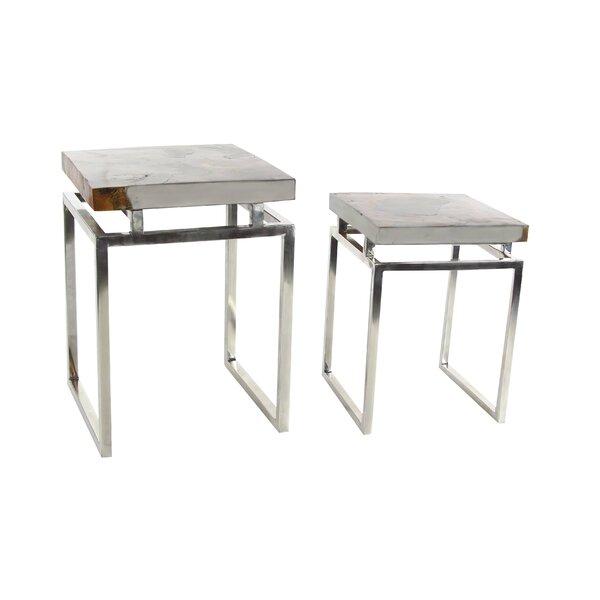 Omak 2 Piece End Table Set by Orren Ellis