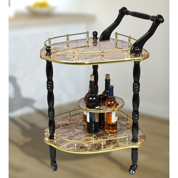 Otterville 2-Tier Elegantly Shaped Bar Cart by Astoria Grand