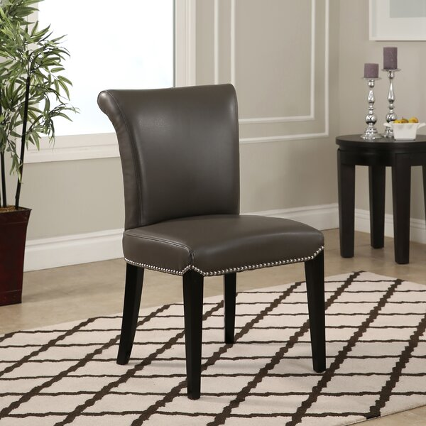 Suzanne Genuine Leather Upholstered Dining Chair (Set of 2) by Darby Home Co