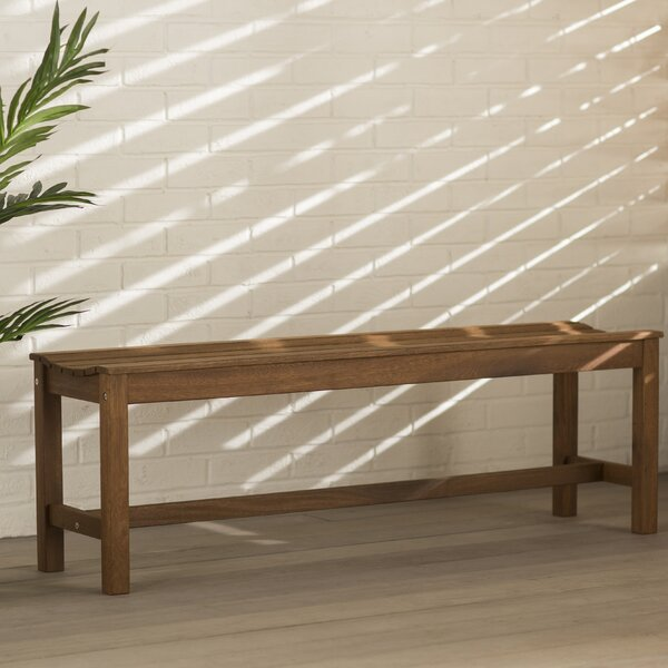 Tovar Wooden Picnic Bench by Beachcrest Home