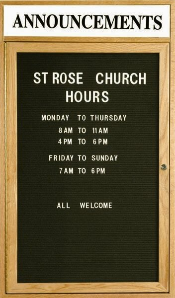 Changeable Enclosed Wall Mounted Letter Board with Header by AARCO