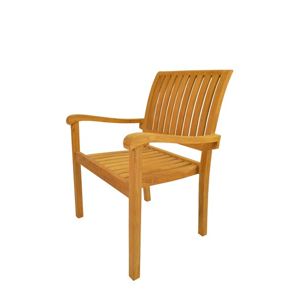 Aspen Stacking Teak Patio Dining Chair (Set of 4) by Anderson Teak
