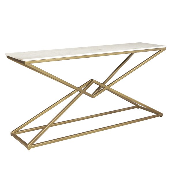 One Allium Way Marble Console Tables