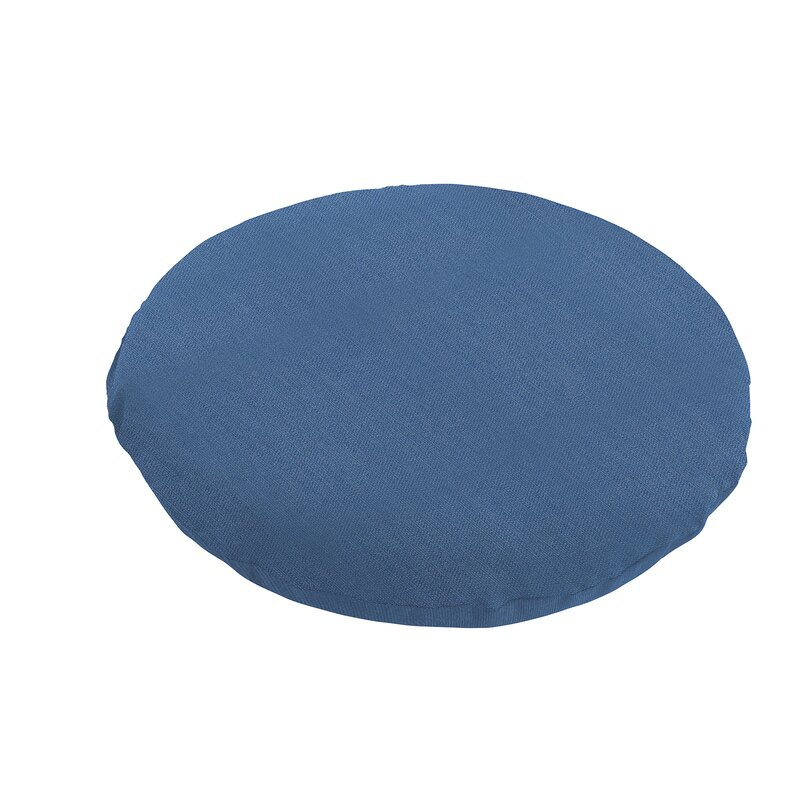 Chair Pads Navy Blue Round Chair Seat Pads Cushion For Indoor Dining Garden Patio Home Sofa