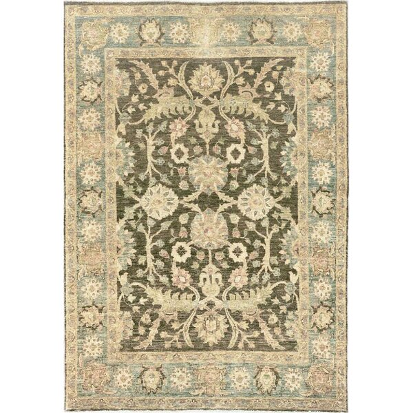 One-of-a-Kind Tabriz Fine Hand-Knotted Wool Green/Beige Indoor Area Rug by Mansour