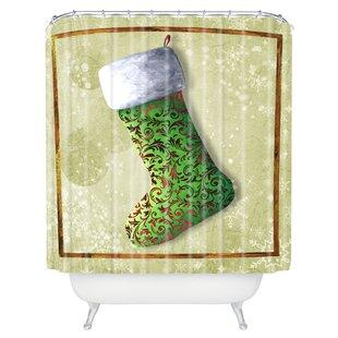Where buy  Henriksen Vintage Stocking Shower Curtain ByThe Holiday Aisle