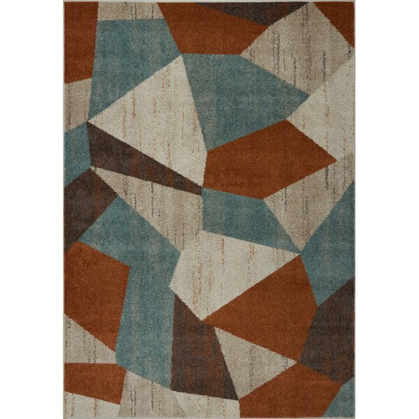 Voigt Cream/Brown/Blue Area Rug by George Oliver