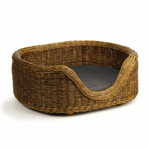 Dylon Rattan Bolster Dog Bed by Mistana