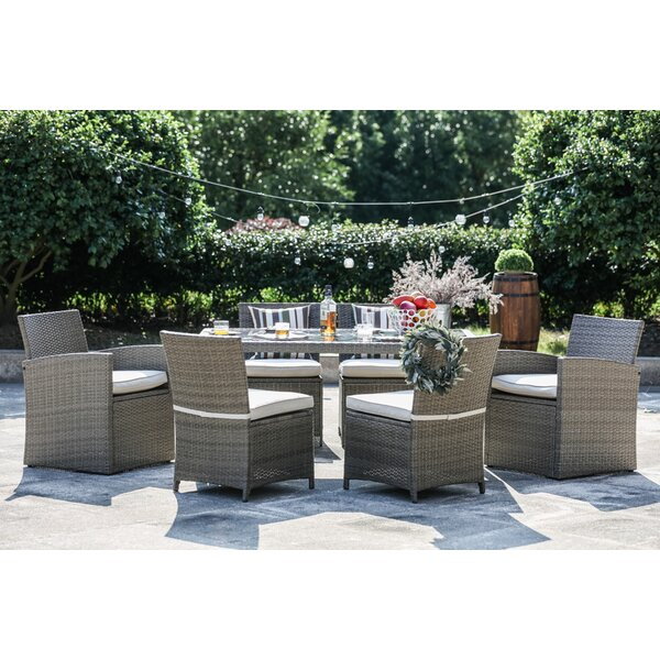 Worthing 7 Piece Dining Set with Cushions