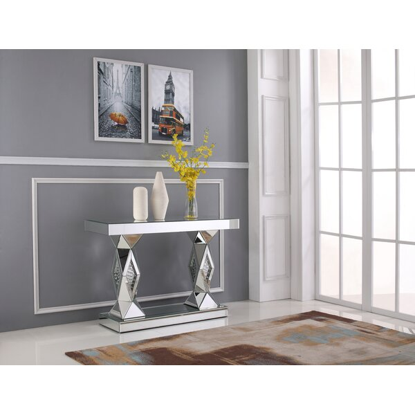 Damion Crystal Console Table by Rosdorf Park