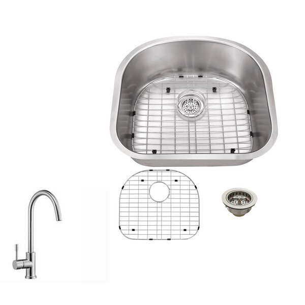 23.25 L x 20.88 W Single Bowl Kitchen Sink with Faucet by Soleil