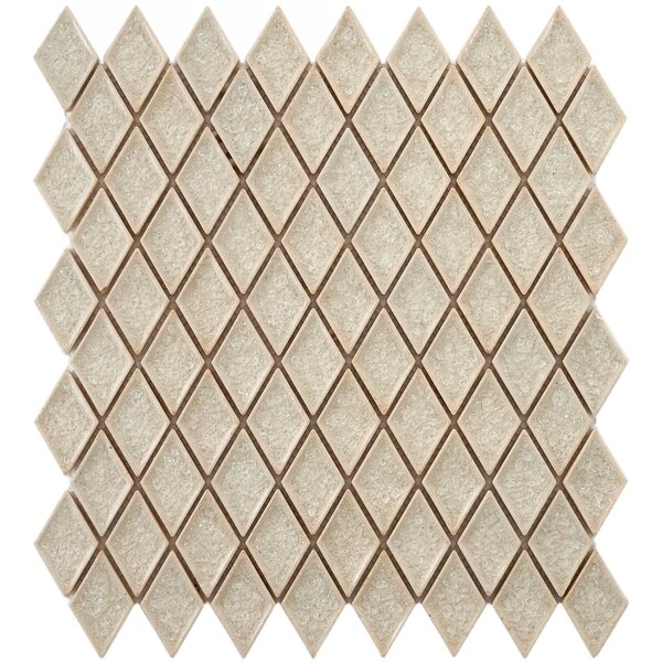 Interval 1 x 2 Ceramic Mosaic Tile in Beige by EliteTile