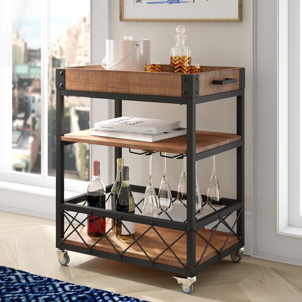Zona Kitchen Cart by Mercury Row