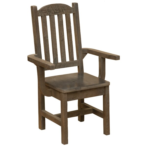 Frontier Cathedral Solid Wood Dining Arm Chair by Fireside Lodge
