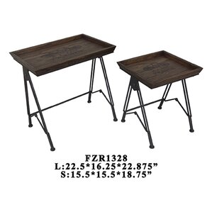 Paris Voyager 2 Piece Nesting Tables by Crestview Collection
