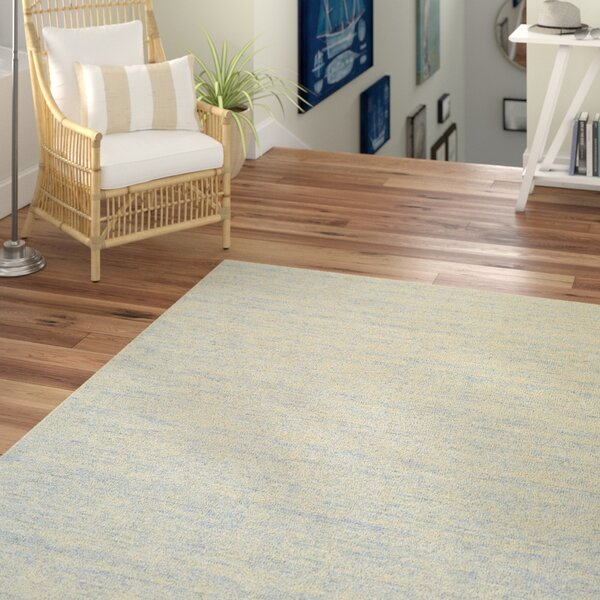 Afton Hand-Loomed Light Blue/Beige Area Rug by Beachcrest Home