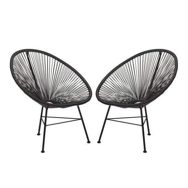 Meyerwood Wicker Patio Chair (Set of 2) by Latitude Run Latitude Run
