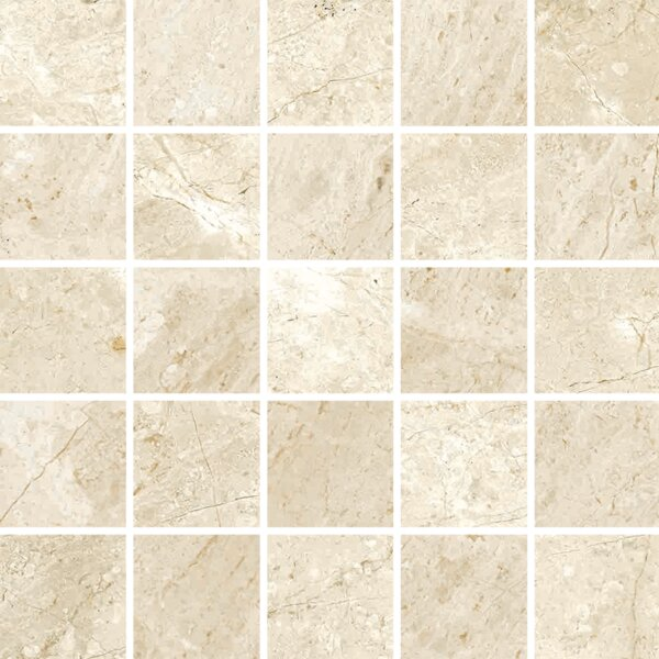 Peyton 2 W x 2 Porcelain Mosaic Tile in Off-White by Parvatile