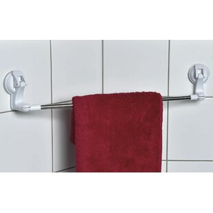 Reviews Swiveling Suction 24.8 Wall Mounted Towel Bar By Evideco