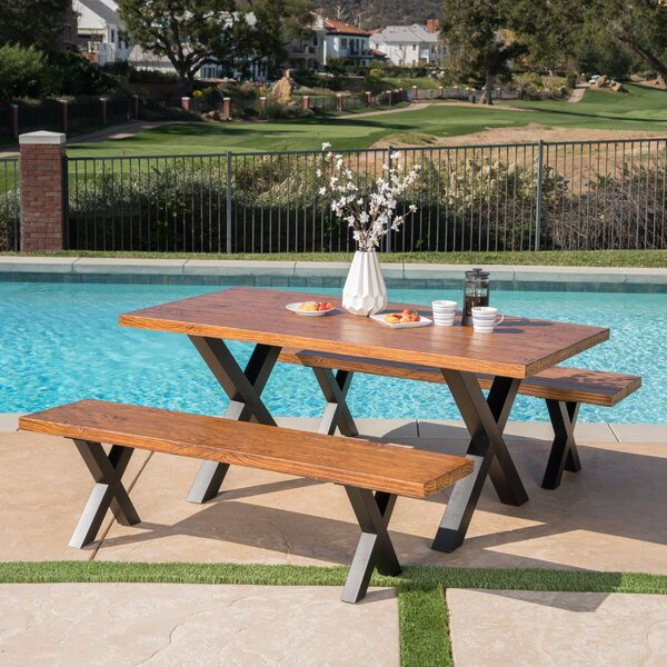 La Mott 3 Piece Dining Set by Gracie Oaks