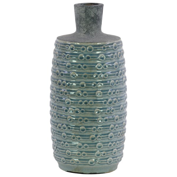 Newhaven Ceramic Bottle Table Vase by Highland Dunes