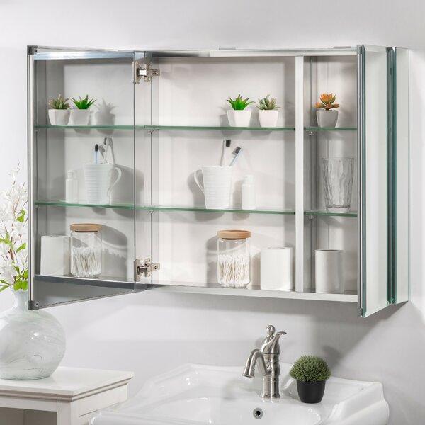 Sloten Surface Mount Recessed Framed 2 Medicine Cabinet with 4 Adjustable Shelves