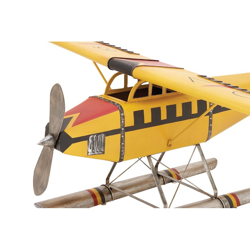 Cole & Grey Metal Model Airplane | Wayfair
