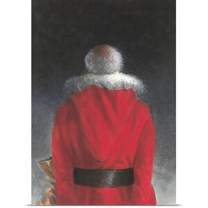 'Man in Red Coat, 2004' by Lincoln Seligman Painting Print