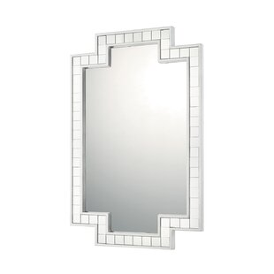 Orren Ellis Silver Leaf Decorative Accent Wall Mirror